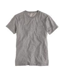 J.Crew | Gray Slim Broken-in Pocket T-shirt for Men | Lyst
