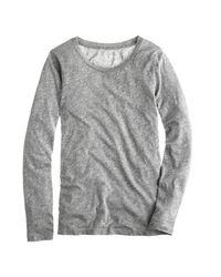 J.Crew | Gray Tissue Long-sleeve T-shirt | Lyst
