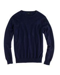 J.Crew Blue Cotton-cashmere Crewneck Sweater for men
