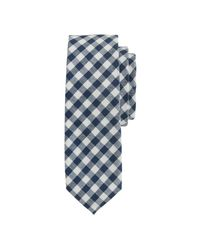 J.Crew | Blue Cotton Tie In Classic Gingham for Men | Lyst