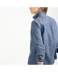 J.Crew - Blue Selvedge Chambray Shirt - Lyst