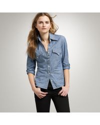 J.Crew | Blue The Jean Shop Chambray Shirt | Lyst