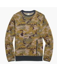 J.Crew - Green New Balance Crewneck Sweatshirt for Men - Lyst