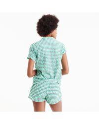 J.Crew - Green Gingham Pajama Set - Lyst