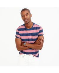 J.Crew Blue Wallace & Barnes T-shirt In Indigo Stripe for men