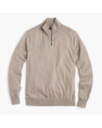 J.Crew - Multicolor Slim Italian Merino Wool Half-zip Sweater for Men - Lyst