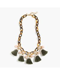 J.Crew - Multicolor Tortoise Link And Tassel Necklace - Lyst
