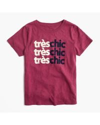 J.Crew Pink Tres Chic T-shirt
