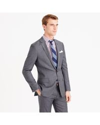 J.Crew - Gray Ludlow Suit Jacket With Center Vent In Italian Worsted Wool for Men - Lyst