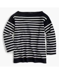 J.Crew | Blue Placed Stripe Boatneck T-shirt | Lyst