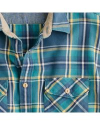 J.Crew | Blue Wallace & Barnes Heavyweight Flannel Shirt In Del Mar Plaid for Men | Lyst