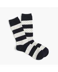J.Crew - Blue Trouser Socks In Stripes And Dots for Men - Lyst