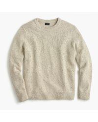 J.Crew Natural Italian Donegal Wool Crewneck Sweater for men