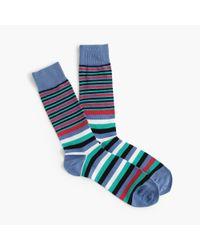 J.Crew - Blue White Multistripe Socks for Men - Lyst