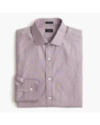 J.Crew Purple Ludlow Shirt In End-on-end Cotton for men