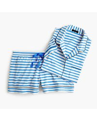 J.Crew - Blue Dreamy Striped Short Pajamas - Lyst