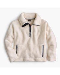 J.Crew - Natural Half-zip Sweatshirt In Polartec Fleece - Lyst