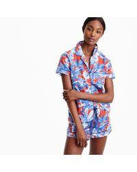 J.Crew Blue Cotton Pajama Set In Ratti Rio Floral