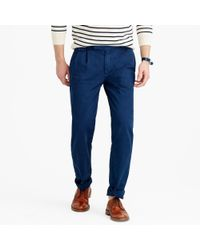 J.Crew Black Wallace & Barnes Double-pleated Relaxed-fit Military Chino Pant for men