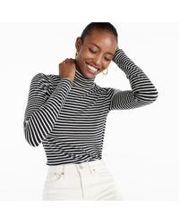 J.Crew - Black Tissue Turtleneck T-shirt In Stripe - Lyst