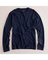 J.Crew Blue Tall Broken-in Long-sleeve Pocket T-shirt for men