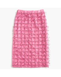 J.Crew Pink Collection Embellished Satin Skirt