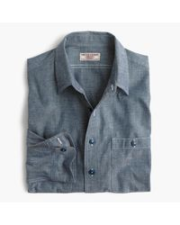 J.Crew   Blue Wallace & Barnes Chambray Shirt for Men   Lyst