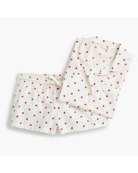 J.Crew - White Pajama Set In Strawberries - Lyst