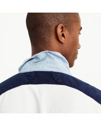 J.Crew - Tall Rugby Shirt In Blue-and-white Stripe for Men - Lyst