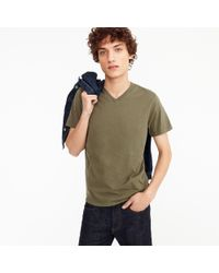 J.Crew - Green Broken-in V-neck T-shirt for Men - Lyst