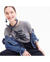 "J.Crew Gray Prinkshop ""mama"" T-shirt"