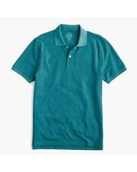 J.Crew | Blue Slim Classic Piqué Polo Shirt for Men | Lyst
