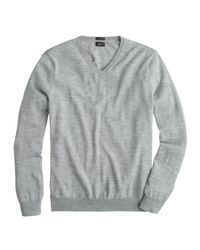J.Crew | Gray Slim Merino Wool V-neck Sweater for Men | Lyst
