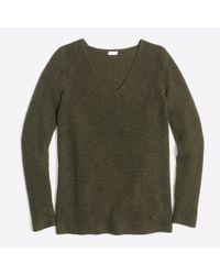 J.Crew - Green V-neck Pullover Sweater - Lyst