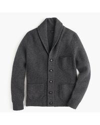 J.Crew Black Lambswool Three-pocket Cardigan Sweater for men