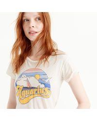 """J.Crew - White Horoscope T-shirt In """"aquarius"""" - Lyst"""
