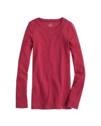 J.Crew - Natural Slim Perfect Long-sleeve T-shirt - Lyst