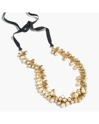 J.Crew   Metallic Pearl Rosebud Necklace   Lyst