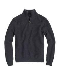 J.Crew   Gray Slim Cotton-cashmere Half-zip Sweater for Men   Lyst