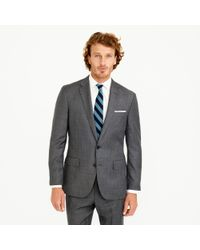 J.Crew | Gray Crosby Suit Jacket With Center Vent In Italian Worsted Wool for Men | Lyst