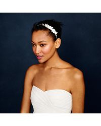 J.Crew - White Flower Headband - Lyst