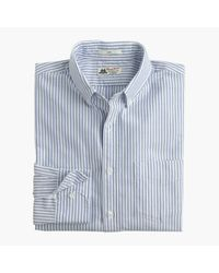 J.Crew | Blue Slim Thomas Mason Oxford Cloth Shirt In Vintage Stripe for Men | Lyst