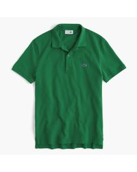 J.Crew | Green Lacoste Polo Shirt for Men | Lyst