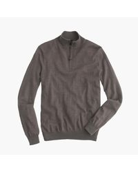 J.Crew | Gray Slim Merino Wool Half-zip Sweater for Men | Lyst