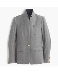 J.Crew | Gray Tall Regent Blazer With Satin Lapel | Lyst