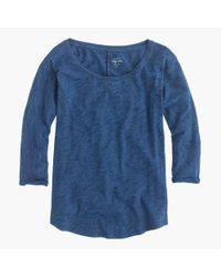 J.Crew | Blue Indigo Vintage Cotton T-shirt With Drop Sleeves | Lyst