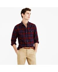 J.Crew Red Cotton-wool Elbow-patch Shirt In Hayes Plaid for men
