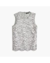 J.Crew | Metallic Lace Panel Top | Lyst