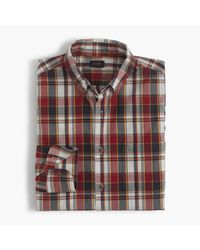 J.Crew | Red Madras Check Cotton Shirt for Men | Lyst
