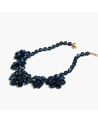 J.Crew | Blue Crystal Cluster Necklace | Lyst